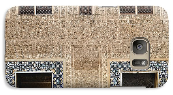 Galaxy Case featuring the photograph Alhambra Court Granada by Rudi Prott
