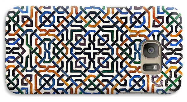 Alhambra Tile Detail Galaxy Case by Jane Rix