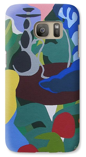 Galaxy Case featuring the painting Alice And The Blue Caterpillar by Meagan  Visser