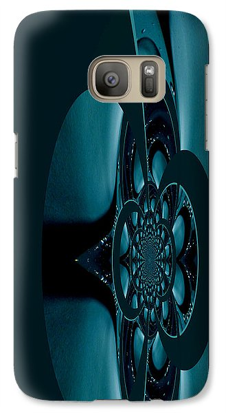 Galaxy Case featuring the painting Alien Craft Iphone Case by Robert Kernodle