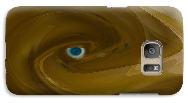 Galaxy Case featuring the digital art Alien Eye - Abstract by rd Erickson
