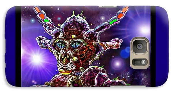 Galaxy Case featuring the digital art Alien Portrait by Hartmut Jager