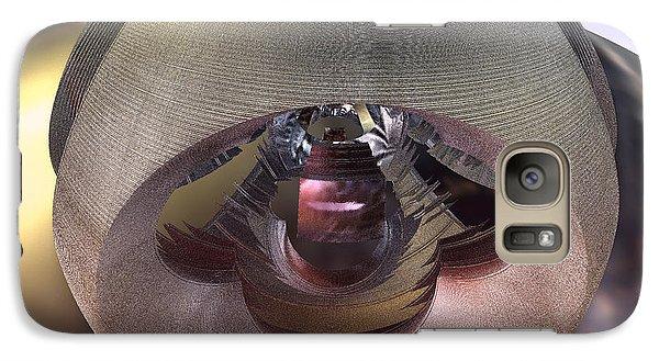Galaxy Case featuring the digital art Alien Spacecraft by Melissa Messick