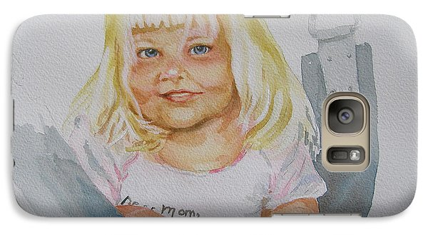 Galaxy Case featuring the painting Alisha And Swing by Mary Haley-Rocks
