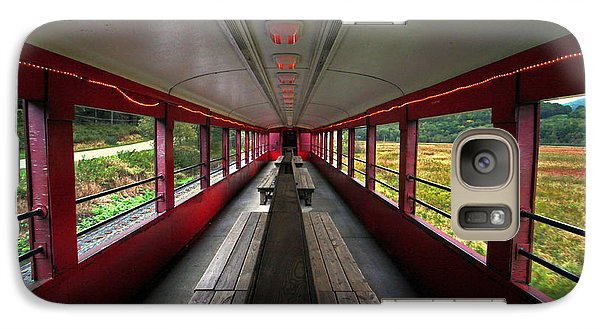 Galaxy Case featuring the photograph All Aboard Tioga Central Railroad by Suzanne Stout