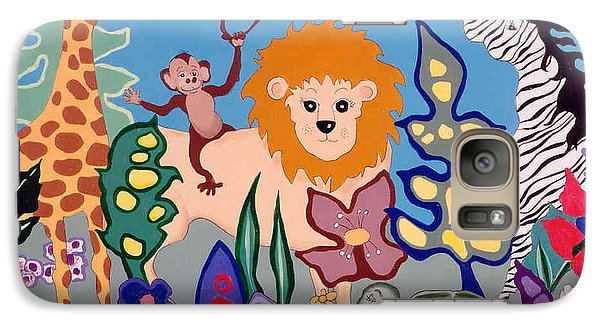 Galaxy Case featuring the painting All Creatures Great And Small by Joyce Gebauer