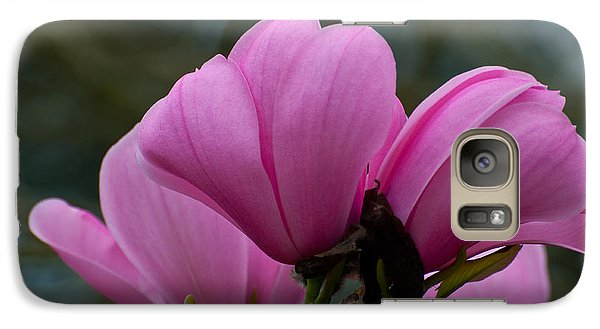 Galaxy Case featuring the photograph Pink Magnolia 2 by Sabine Edrissi