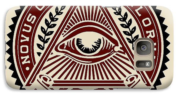 Galaxy Case featuring the digital art All Seeing Eye by Vagabond Folk Art - Virginia Vivier