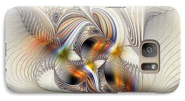 Galaxy Case featuring the digital art All Shook Up by Kim Redd
