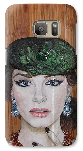 Galaxy Case featuring the painting All That Girls Love 2 by Malinda  Prudhomme