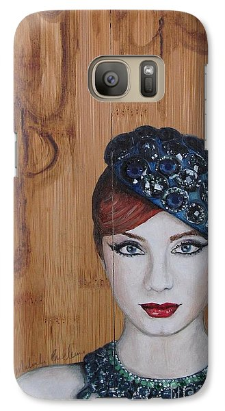 Galaxy Case featuring the painting All That Girls Love 3 by Malinda  Prudhomme