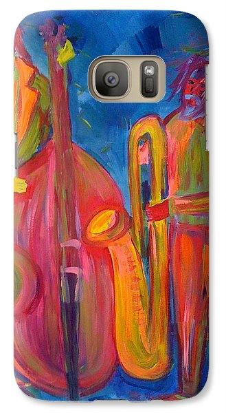 Galaxy Case featuring the painting All That Jazz by Judi Goodwin