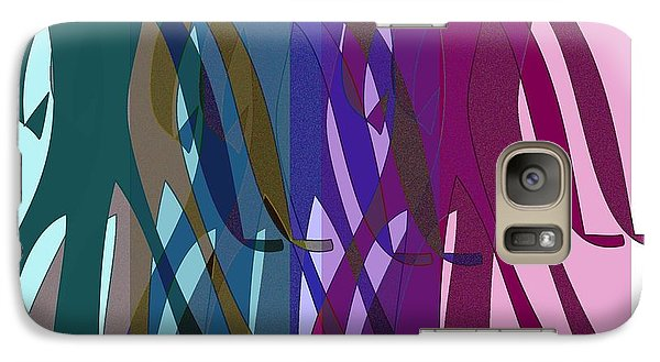 Galaxy Case featuring the digital art All The World's A Stage.... by Iris Gelbart