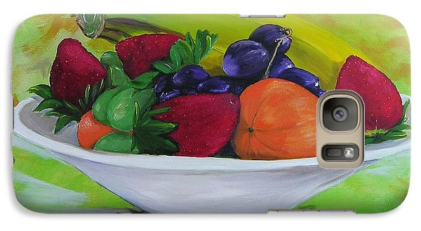 Galaxy Case featuring the painting All Things Sweet I by Barbara Hayes