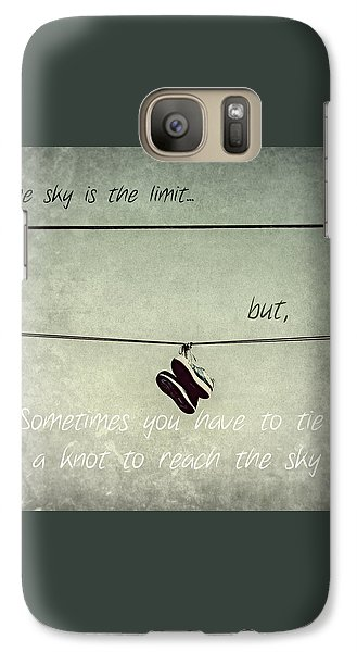 Galaxy Case featuring the photograph All Tied Up Inspirational by Melanie Lankford Photography