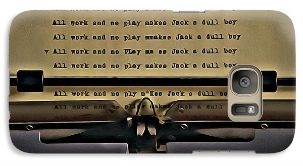 All Work And No Play Makes Jack A Dull Boy Galaxy Case by Florian Rodarte