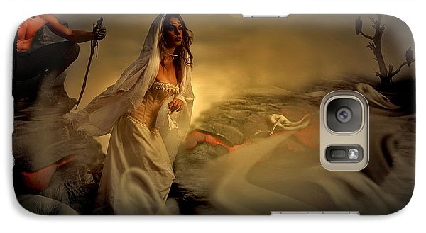 Galaxy Case featuring the digital art Allegory Fantasy Art by Galen Valle