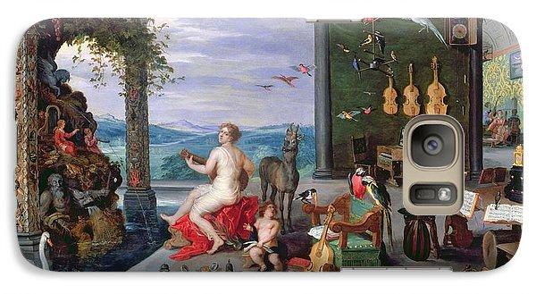 Trombone Galaxy S7 Case - Allegory Of Music Oil On Canvas by Jan the Elder Brueghel