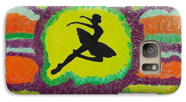 Galaxy Case featuring the painting Allegro Attitude by Margaret Harmon