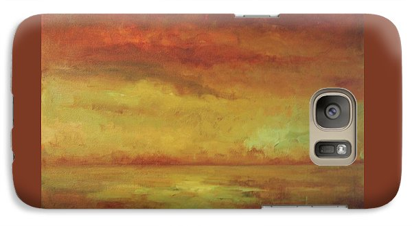 Galaxy Case featuring the painting Allegro by Mary Wolf
