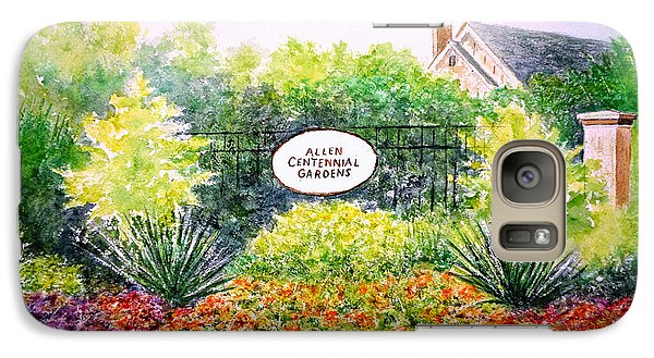 Galaxy Case featuring the painting Allen Gardens by Thomas Kuchenbecker