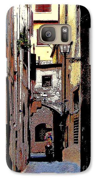 Galaxy Case featuring the digital art Alley In Florence 2 Digitized by Jennie Breeze