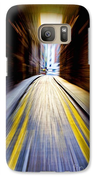 Galaxy Case featuring the photograph Alleyway With Motion by Craig B