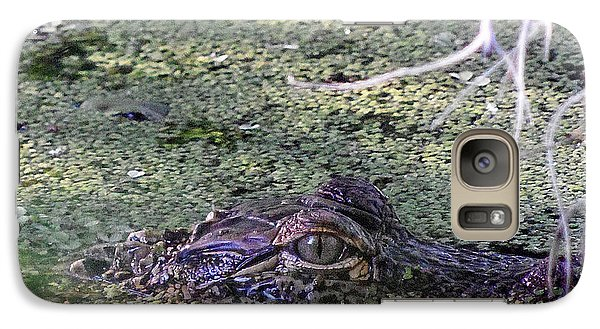 Galaxy Case featuring the photograph Alligator 019 by Chris Mercer