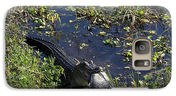 Galaxy Case featuring the photograph Alligator 020 by Chris Mercer