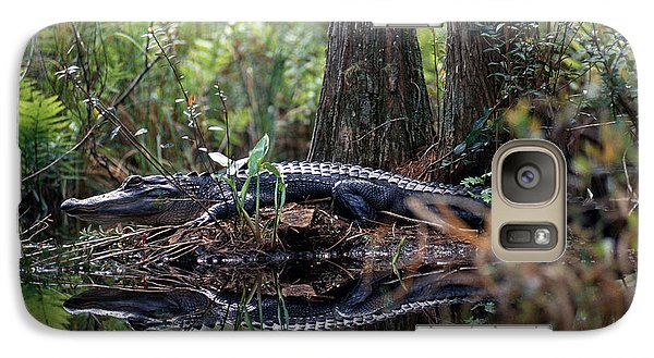 Alligator In Okefenokee Swamp Galaxy S7 Case by William H. Mullins