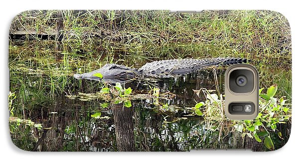 Alligator In Swamp Galaxy S7 Case by Jim West