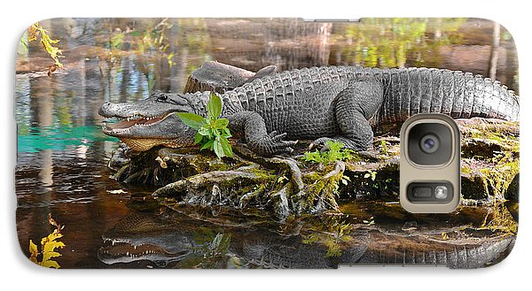 Alligator Mississippiensis Galaxy Case by Christine Till