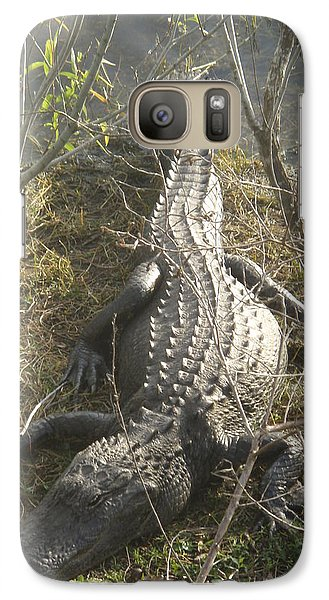 Galaxy Case featuring the photograph Alligator by Robert Nickologianis