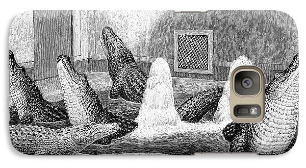 Alligators In Captivity Galaxy S7 Case by Science Photo Library