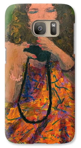 Galaxy Case featuring the painting Allison by Donald J Ryker III