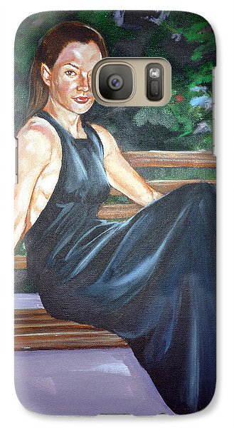 Galaxy Case featuring the painting Allison Two by Bryan Bustard