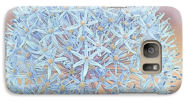 Galaxy Case featuring the digital art Allium Bursting by Susan  McMenamin