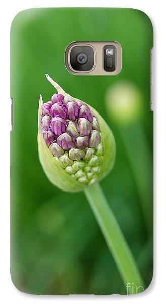 Galaxy Case featuring the photograph Allium Flower by Eva Kaufman