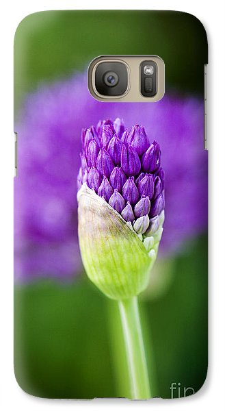 Galaxy Case featuring the photograph Allium Hollandicum Purple Sensation by Tim Gainey