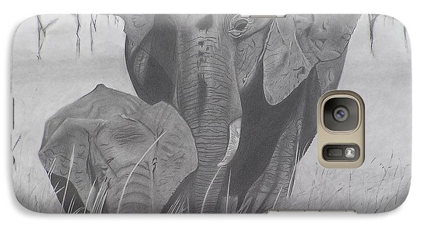 Galaxy Case featuring the drawing Allmother by Wil Golden