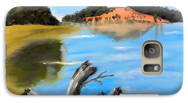 Galaxy Case featuring the painting Allonah Beach Tasmania by Pamela  Meredith