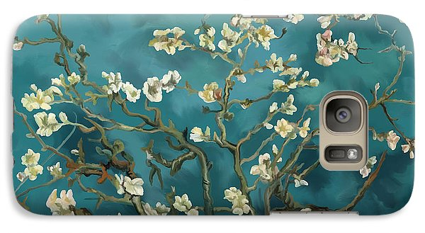 Galaxy Case featuring the painting Almond Blossoms' Reproduction by Tim Gilliland