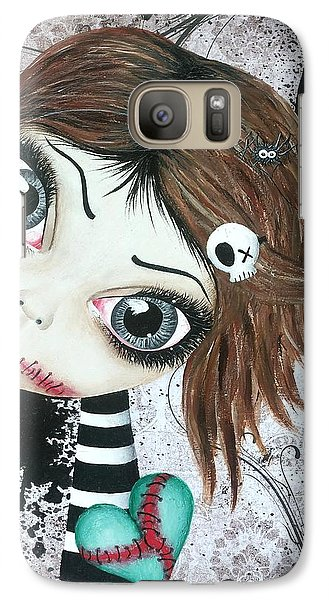 Galaxy Case featuring the painting Almost A Ghost by Oddball Art Co by Lizzy Love