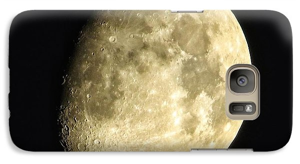 Galaxy Case featuring the photograph Almost Blue Moon by Nikki McInnes