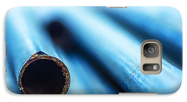 Galaxy Case featuring the photograph Almost Entirely Blue by Arkady Kunysz