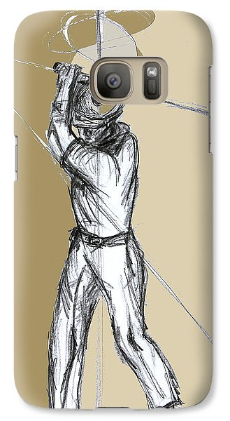 Galaxy Case featuring the drawing Almost Perfect by Sladjana Lazarevic