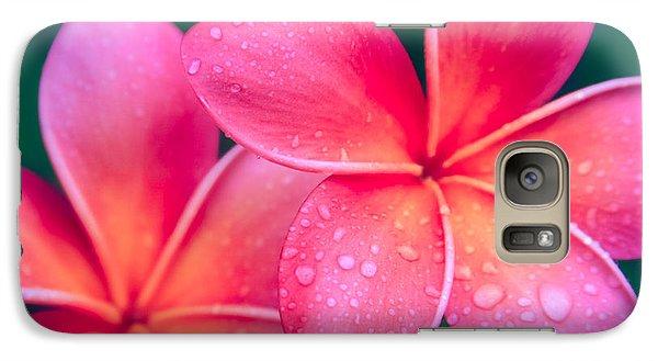 Aloha Hawaii Kalama O Nei Pink Tropical Plumeria Galaxy S7 Case by Sharon Mau