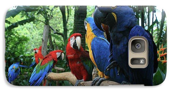 Aloha Kaua Aloha Mai No Aloha Aku Beautiful Macaw Galaxy S7 Case by Sharon Mau