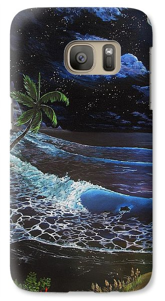 Galaxy Case featuring the painting Aloha Luna by Kevin F Heuman