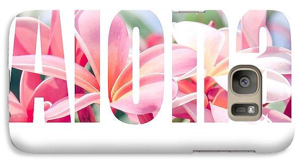 Aloha Tropical Plumeria Typography Galaxy S7 Case
